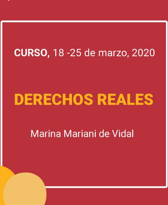 Curso DERECHOS REALES