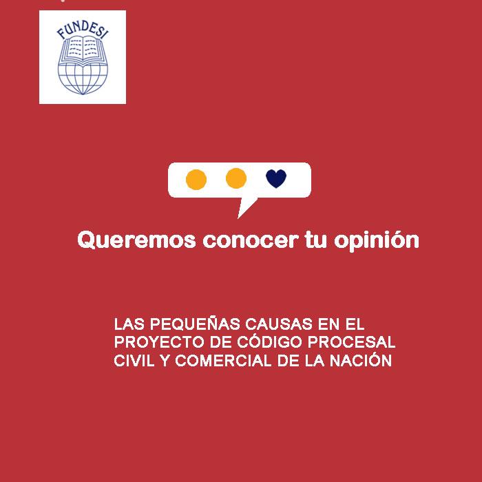 LAS PEQUEÑAS CAUSAS EN EL PROYECTO DE CÓDIGO PROCESAL CIVIL Y COMERCIAL DE LA NACIÓN