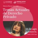 Temas Actuales de Derecho Privado